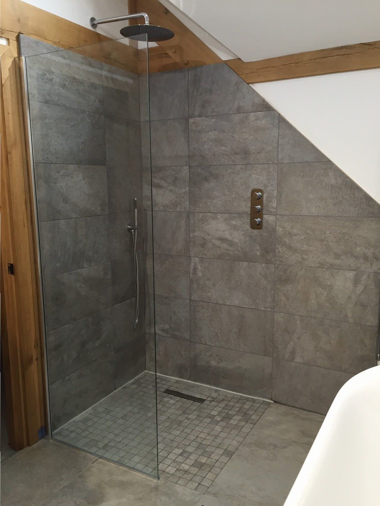 Kitchen Wet Room Tiles In Malpas Clay Rock Case Study