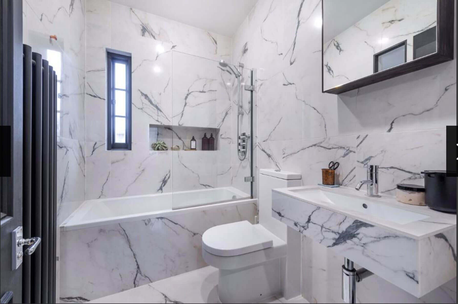 Porcelain Bathroom Tiles - London - Clay and Rock